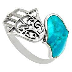 2.69gms green chrysocolla enamel 925 silver adjustable ring size 6 c6546