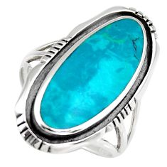 5.48gms green chrysocolla enamel 925 sterling silver ring size 7 c6547