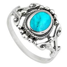 3.02gms green chrysocolla enamel 925 sterling silver ring size 7 c6553