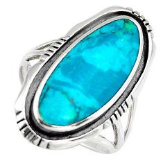 5.02gms green chrysocolla enamel 925 sterling silver ring size 6.5 c6557