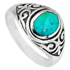 925 sterling silver 6.68gms blue kingman turquoise enamel ring size 11.5 c6620