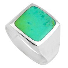 8.47gms green kingman turquoise enamel 925 silver ring size 9 c6627