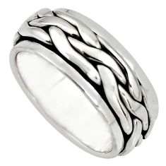 925 silver 8.32gms meditation ring solid spinner band ring size 8 c6693
