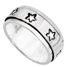 7.84gms meditation ring 925 silver spinner band ring size 10 c6703