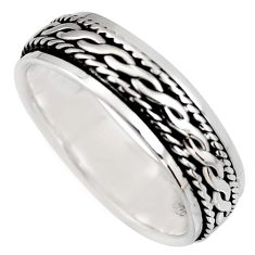 7.39gms meditation ring 925 silver spinner band ring size 11.5 c6706