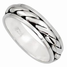 5.73gms bali meditation ring 925 silver spinner band ring size 10.5 c6717