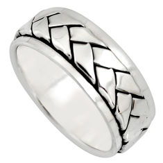 7.84gms meditation wish spinner band 925 silver spinner ring size 8.5 c6726