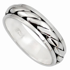 5.73gms meditation wish spinner band 925 silver spinner ring size 10.5 c6728