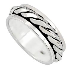5.57gms meditation wish spinner band spinner ring size 7.5 c6734
