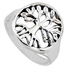 925 silver 4.87gms indonesian bali style solid tree of life ring size 8.5 c6972