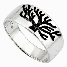 3.48gms indonesian bali style solid 925 silver tree of life ring size 6.5 c6975