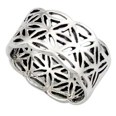 925 silver 5.89gms indonesian bali style solid flower ring size 6.5 c6980