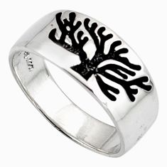 3.89gms indonesian bali style solid 925 silver tree of life ring size 6.5 c6990
