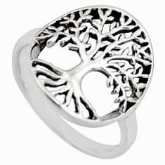 925 silver 3.02gms indonesian bali style solid tree of life ring size 7 c6998