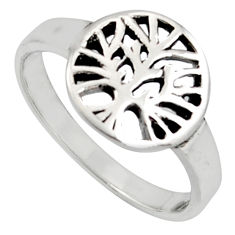2.89gms indonesian bali style solid 925 silver tree of life ring size 9.5 c7018