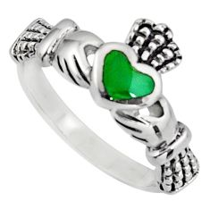 Irish celtic claddagh ring turquoise sterling silver crown heart size 7 c7039