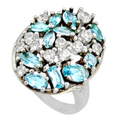 5.52cts blue topaz topaz 925 sterling silver ring jewelry size 8 c7112
