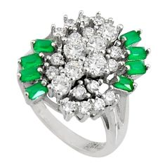 4.82cts green emerald (lab) topaz 925 sterling silver ring jewelry size 7 c7114