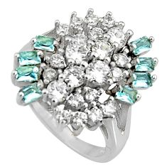 6.32cts natural blue topaz topaz 925 sterling silver ring jewelry size 7 c7142