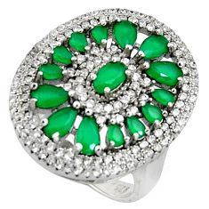 6.42cts green emerald (lab) topaz 925 sterling silver ring jewelry size 8 c7154