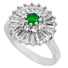 925 sterling silver 5.09cts green emerald (lab) topaz ring jewelry size 7 c7192
