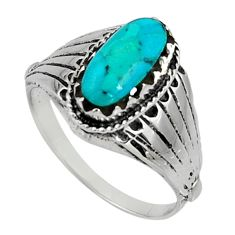 2.51cts green arizona mohave turquoise 925 silver solitaire ring size 9 c7503