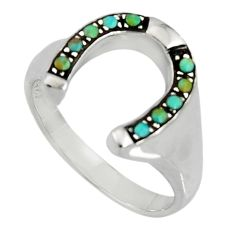 925 sterling silver 0.75cts green arizona mohave turquoise ring size 9.5 c7505
