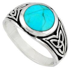 925 silver 7.87gms green arizona mohave turquoise enamel ring size 11.5 c7512