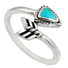 4.47gms green arizona mohave turquoise 925 silver adjustable ring size 9.5 c7513