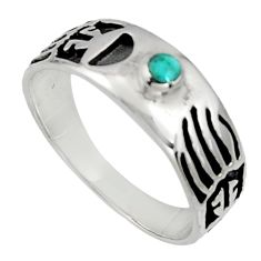 4.47gms green arizona mohave turquoise enamel 925 silver ring size 9.5 c7515