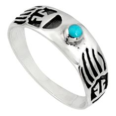 925 silver 4.02gms green arizona mohave turquoise enamel ring size 12 c7516