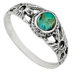 925 silver 2.24gms green arizona mohave turquoise enamel ring size 7.5 c7564