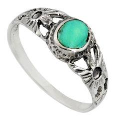2.04gms green arizona mohave turquoise enamel 925 silver ring size 8 c7566