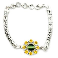 Clearance Sale- ellow citrine 925 sterling silver bracelet jewelry d10345