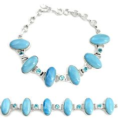 925 sterling silver natural blue owyhee opal topaz tennis bracelet d17950