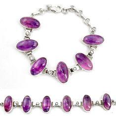 Natural multi color fluorite pearl 925 sterling silver tennis bracelet d17967
