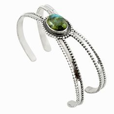 Clearance Sale- 925 sterling silver natural blue labradorite adjustable bangle jewelry d18079