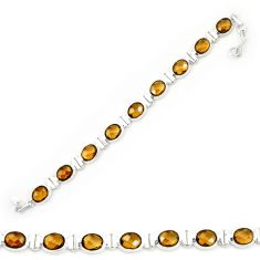 925 sterling silver brown smoky topaz oval tennis bracelet jewelry d20284
