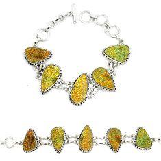 Titanium druzy fancy 925 sterling silver bracelet jewelry d23901