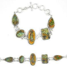 Titanium druzy fancy shape 925 sterling silver bracelet jewelry d23905