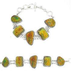 Titanium druzy fancy shape 925 sterling silver bracelet jewelry d23907