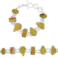 925 sterling silver titanium druzy fancy shape bracelet jewelry d23909