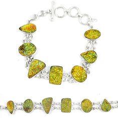 Titanium druzy fancy 925 sterling silver bracelet jewelry d23910