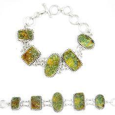 Titanium druzy fancy 925 sterling silver bracelet jewelry d23911