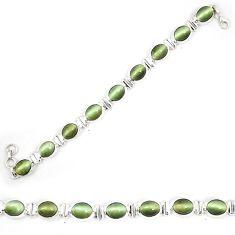 925 sterling silver green cats eye tennis bracelet jewelry d23986