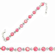 925 sterling silver natural pink rhodochrosite inca rose tennis bracelet d25449