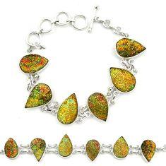 Clearance Sale- Titanium druzy 925 sterling silver tennis bracelet jewelry d25863
