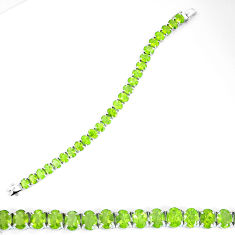 58.36cts natural green peridot 925 sterling silver bracelet jewelry d27525