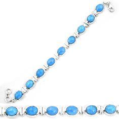 Natural blue owyhee opal 925 sterling silver tennis bracelet jewelry d30041