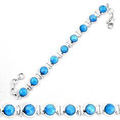 Natural blue owyhee opal 925 sterling silver tennis bracelet jewelry d30043